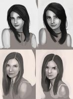 Face Studies by Pseudolonewolf