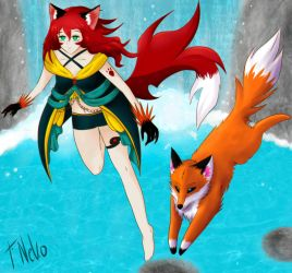 OC Contest from Lunamoon Ruby and Phex by RavanaArt