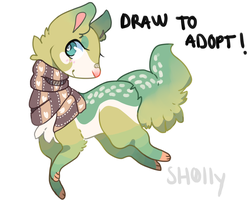 Draw to adopt! :OPEN: by sh0lly