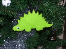 Dinosaur Christmas Ornament 5 by No-Dogs-Allowed