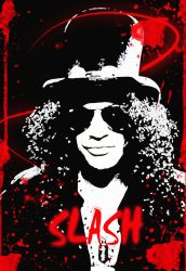 slash autographed with blood by petnick