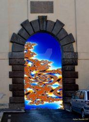 The entrance to the fractal world by Book-Art