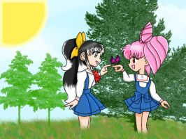 Chibiusa and Haya playing by T-Vict101