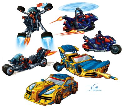 Actionman ATOM Vehicles by dukwax