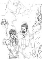 avengers, sketch by Accolay