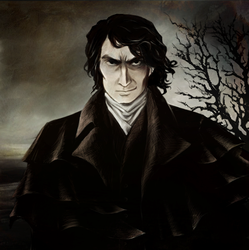 Portrait of Heathcliff by Myrrha-Silvenia