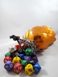 Orange Scalemaille Dice Bag by NebulaDraconian