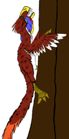 All Yesterday's work: Climbing tree by DinoBirdMan