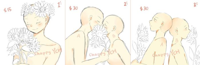 (CLOSED) YCH - sweet sunflower - set price by ChappyVII