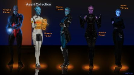 My Asari OC Collection by Leo-Fina