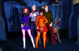 Scoob and the Gang by MADMANMIKE
