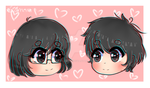 Comission chibi head 2 by LittleMc98