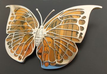 Leaf Wing Moth Brooch by thebluekraken