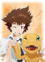 Taichi and Agumon - Digimon Adventure Tri by Fayrin-kun