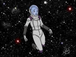 Dans L'espace - In Space by Luckytrefle