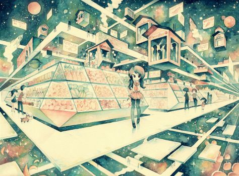 Cosmic Supermarket by XkY