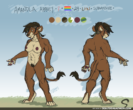 Amandla Ref Sheet by Squiggalaimon