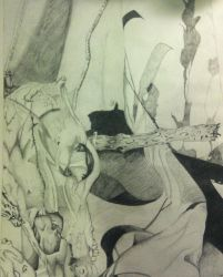 Still Life College Drawing 4 by palmercreativeind