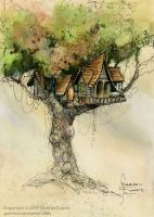 Treehouse - Speed Paining on YouTube by GabrielEvans