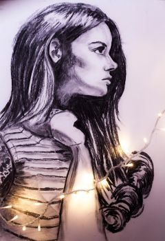 Girl Charcoal by luffwoto