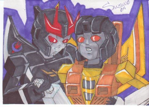 9 Rings Barricade and Sunstorm by Sanjuno