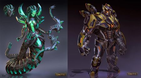 Medusa and Cabrakan Skin Concepts by PTimm