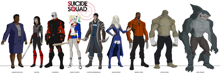 Suicide Squad movie design - Young Justice style by dark-BuB
