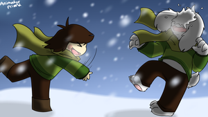 Undertale-Snowball Fight by Silentwoofz