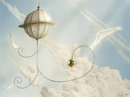Whimsical Flight by ChrisBeckerArt