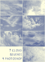 7 Cloud Brushes by lenavvargo