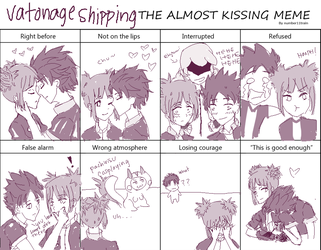 Almost Kissing Meme - Vatonageshipping by pixelpeep
