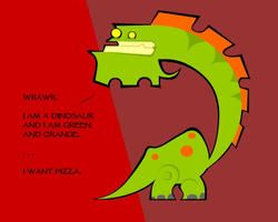 greenandorangeosaurus by KloporToups