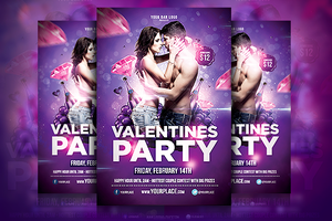 Valentines Party Flyer Template by odindesign