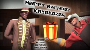 Happy Birthday Kayakazan by Nikolad92