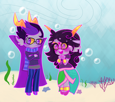 Eridan and Feferi by trepidan-dreamer