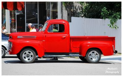 A Hot Red Ford Truck by TheMan268