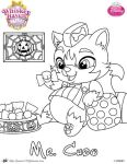 Halloween coloring page of Mr Chow Whisker Haven by SKGaleana