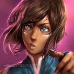 Korra War Paint by Artipelago