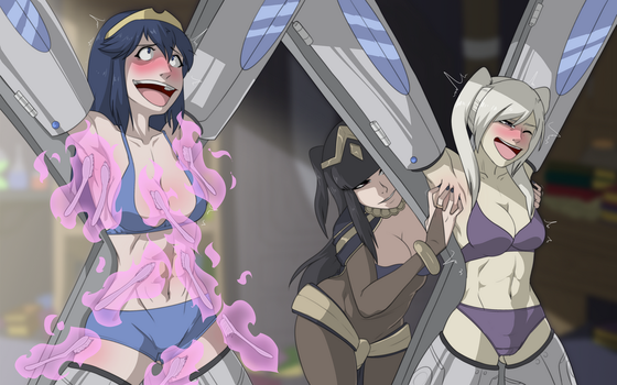 Tharja Tickle Torture [COMMISSION] by MeteorREB0RN