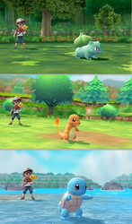 Starter Pokemon in a new game by MCsaurus
