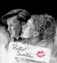 Dr Who and River Song by Catluckey