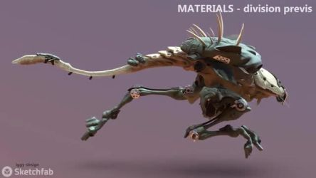 Hybrid Runner - Material displacement previs