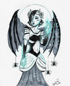 Inktober: Succubus by Jellyfishbubblez