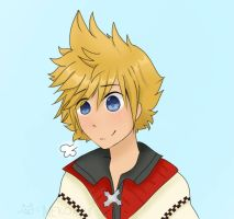Roxas doodle by NeonCandyLights