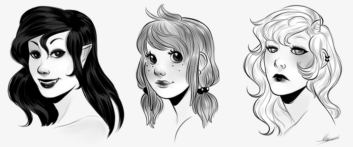 Faces by MaryLittleRose