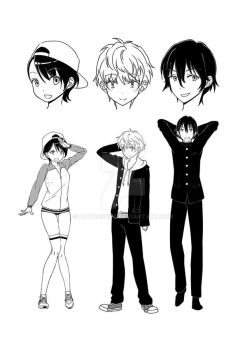 Character designs by hayousena