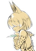 Serval doodle by MaullarMaullar