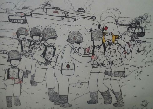 Irene the Field Medic *Old Artwork* by MP6-Serza