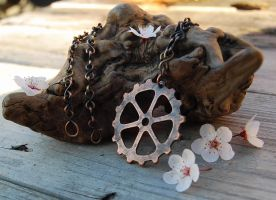 Gear Pendant in Copper by Wyrdhaven