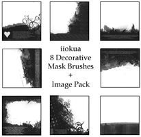 8 Decorative Mask Brushes by iiokua